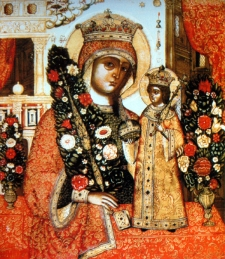 """Icon of the Mother of God """"the Unfading Bloom"""" Moscow, Russia"""